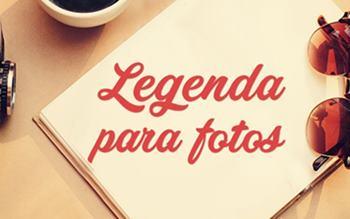 Legenda para foto