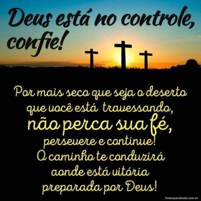 Deus Está no Controle, Confie 16