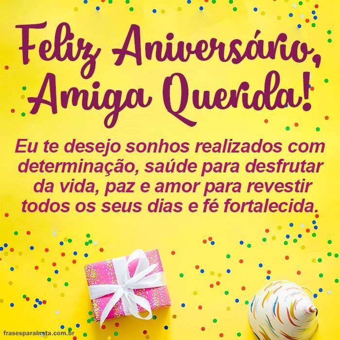 Feliz Aniversário Amiga Querida