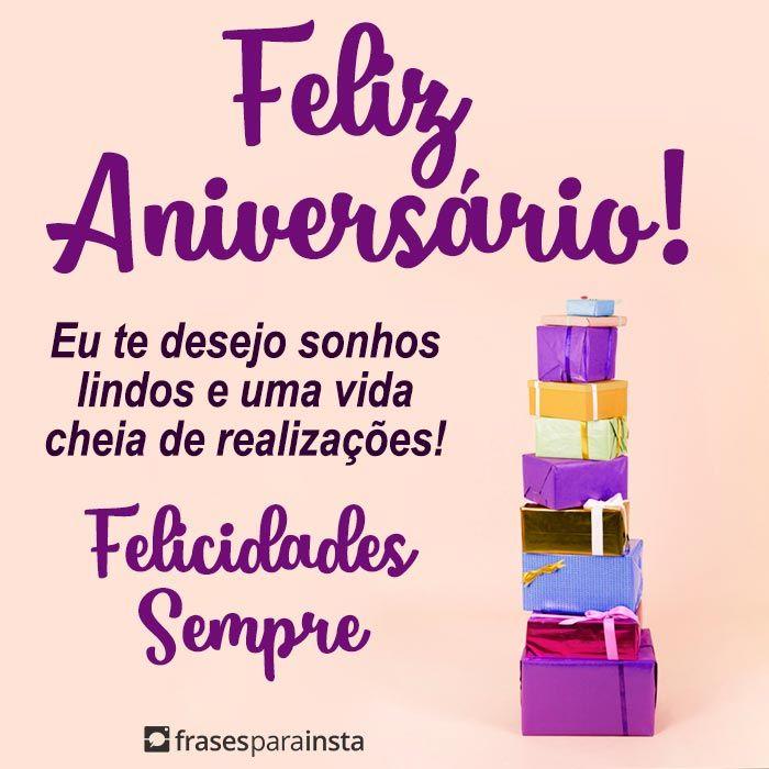 Feliz Aniversário Felicidades Sempre