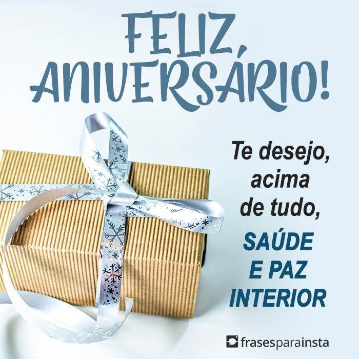 Feliz Aniversário Saúde e Paz