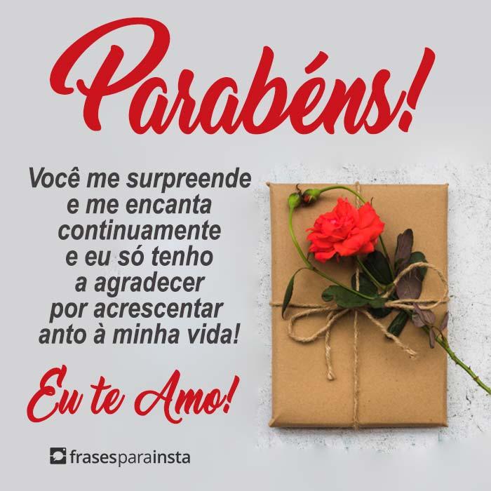 Parabéns, Te Amo! 10
