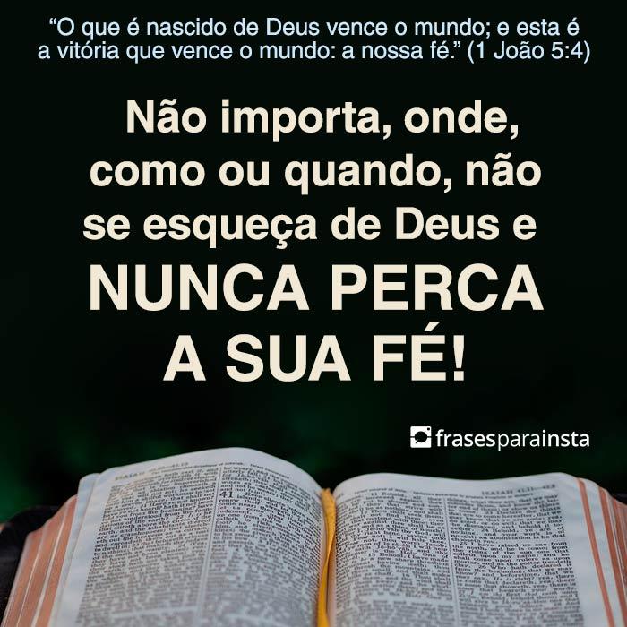 Nunca Perca a Fé em Deus 1