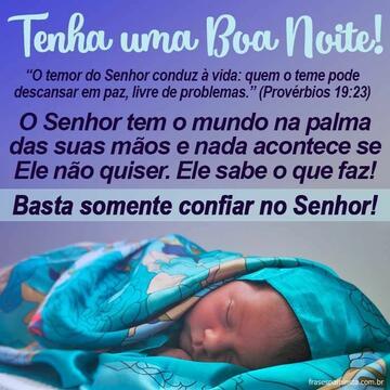 Mensagem Bíblica de Boa Noite